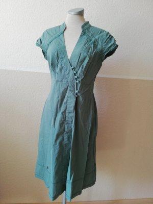 DIDI Wickelkleid Pistazie graugrün Gr. S 36 Sommerkleid Kleid midi knielang