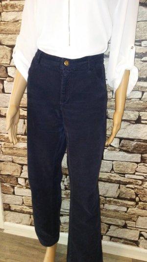 Christian Berg Pantalone di velluto a coste blu scuro-blu Cotone