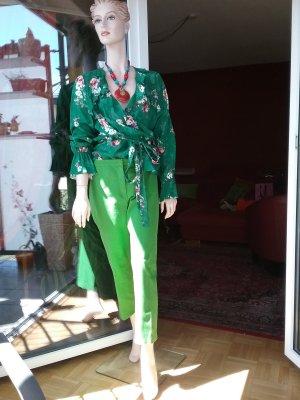 Escada 7/8 Length Trousers green cotton