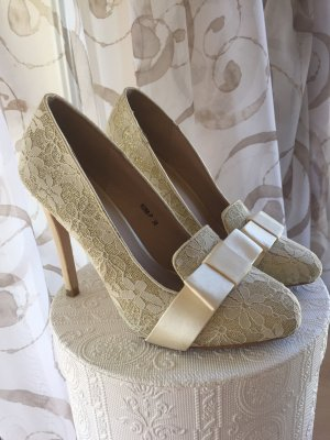 High Heels cream-gold-colored