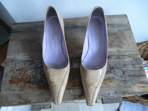 Audley Escarpins Mary Jane beige cuir