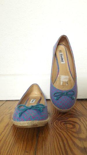 Bailarinas azul neón-violeta azulado Fibra sintética