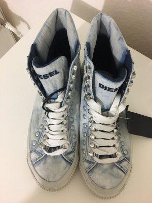 Diesel High Top Sneaker azure-pale blue