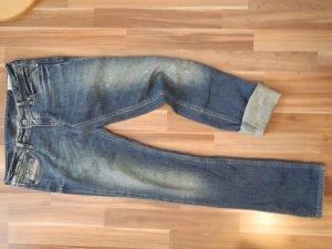 Diesel 27/34 Schmal niedrige Leibhöhe washed Stretch Elasthan used dirty wash bleached denim Jeans 34 27