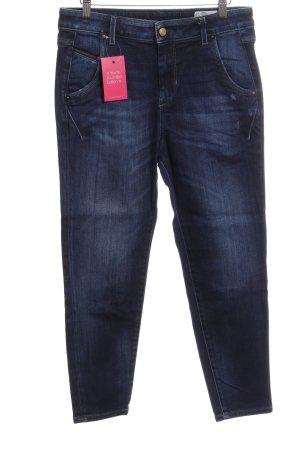 Diesel Jeans a 3/4 blu scuro puntinato stile casual