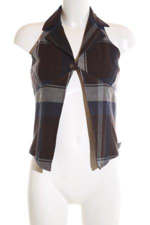 Diesel Gilet de costume motif à carreaux style décontracté