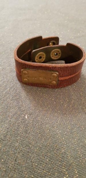 Diesel Armband, aus braunem Leder
