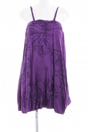 Diesel Balloon Dress dark violet-lilac abstract pattern extravagant style