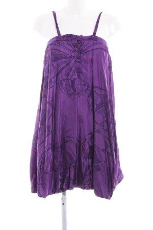 Diesel Ballonkleid dunkelviolett-lila abstraktes Muster extravaganter Stil