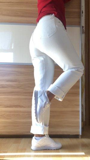 Diesel Jeans taille haute blanc