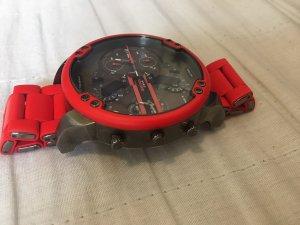 Diesel Montre avec bracelet métallique rouge
