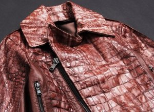 Diesel Black Gold Croc Leather Leder Jacket/Jacke Burgundy IT40 / S Super quality