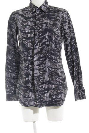 Diesel Black Gold Langarmhemd abstraktes Muster Casual-Look