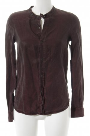 Diesel Black Gold Langarmhemd bordeauxrot meliert Casual-Look
