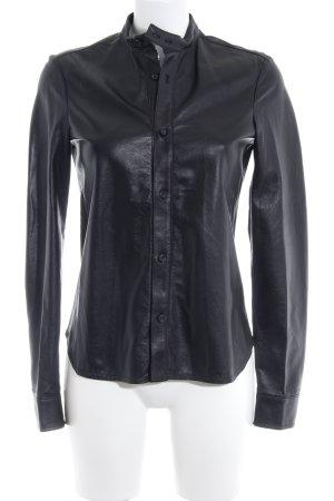 Diesel Black Gold Camicia in pelle nero look vintage