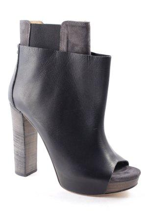 Diesel Black Gold Peep Toe laarsjes zwart straat-mode uitstraling