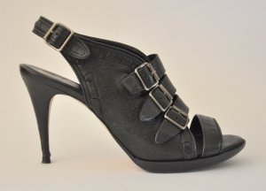 Diesel Black Gold REBEL WOMEN Pumps Peep Toes mit Schnalle Leder schwarz Gr. 40