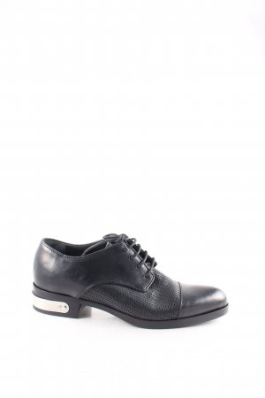 Diesel Black Gold Schnürschuhe schwarz klassischer Stil