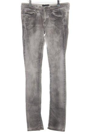 Diesel Black Gold Skinny Jeans hellgrau Washed-Optik