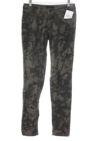 Diesel Black Gold Skinny Jeans Camouflagemuster Washed-Optik