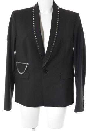 Diesel Black Gold Blazer de esmoquin negro-color plata elegante