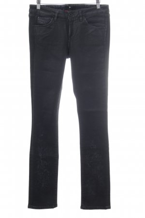 Diesel Black Gold Stretch Jeans black-slate-gray painting technique pattern