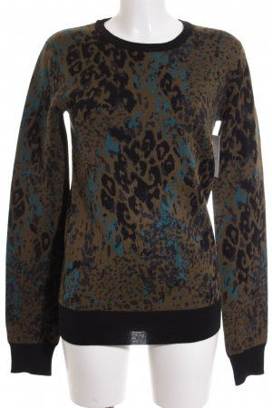 Diesel Black Gold Wollpullover abstraktes Muster Casual-Look