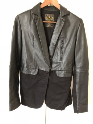 Diesel Black Gold Blazer in pelle nero