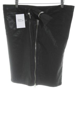 Diesel Bleistiftrock schwarz-silberfarben Elegant