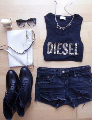 Diesel Blogger Shirt Schwarz Gold Nieten