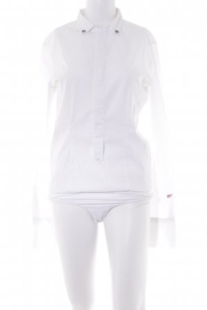 Diesel Blusa tipo body blanco estilo «business»