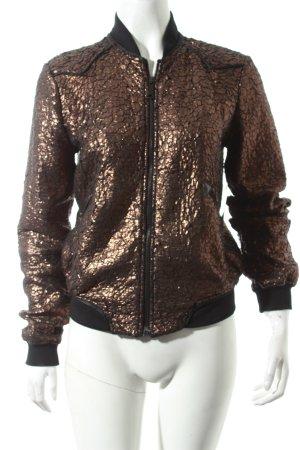 Diesel Bomberjacke schwarz-bronzefarben Street-Fashion-Look