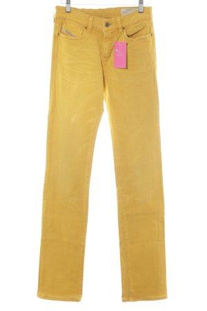 Diesel Jeans svasati giallo scuro stile casual