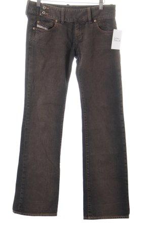Diesel Boot Cut Jeans graubraun Casual-Look