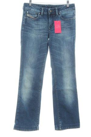 Diesel Boot Cut Jeans stahlblau Business-Look