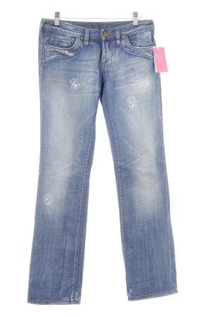 Diesel Boot Cut Jeans stahlblau Casual-Look
