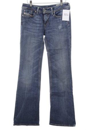 Diesel Boot Cut Jeans stahlblau Urban-Look