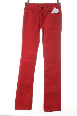 Diesel Boot Cut Jeans brick red casual look