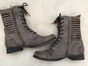 Diesel Low boot gris cuir