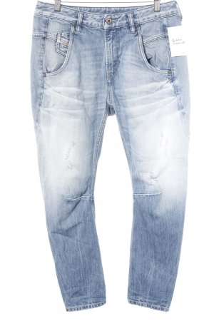 Diesel Boyfriend Jeans steel blue-azure street-fashion look