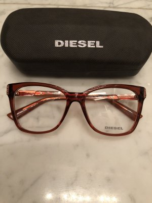 Diesel Lunettes rouille-or rose