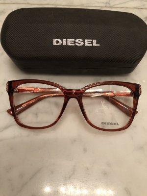 Diesel Bril roodbruin-roségoud