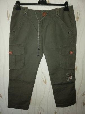 Diesel Pantalone Capri verde-grigio-cachi