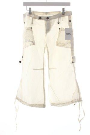 Diesel Pantalon cargo blanc style athlétique