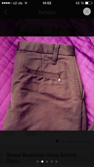 Diesel Chinos brown red-brown