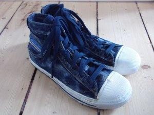 Diesel Chucks Gr. 39 Jeansstoff Jeanslook Pailletten High-Top Sneaker
