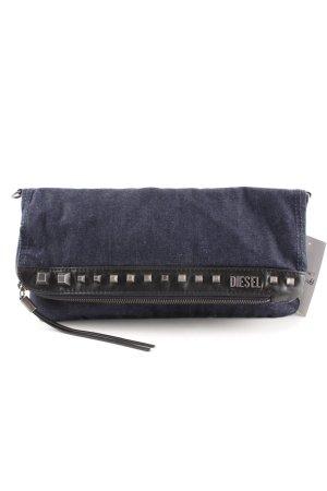 Diesel Clutch dunkelblau Jeans-Optik