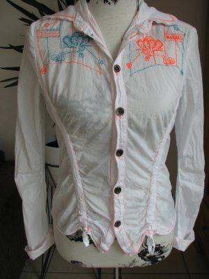 DIESEL Crash-Bluse Knitter mit tollen Applikationen Passend für Gr. 34-36