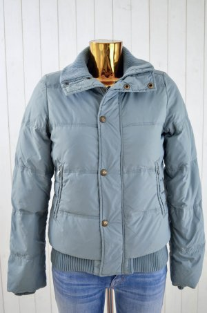 DIESEL Damen Winterjacke Daunenjacke Daune Federn Jacke Grau-Blau Gr.S