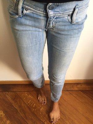 Diesel Jeans taille basse bleu azur